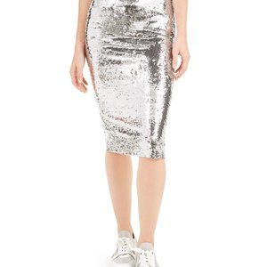 Michael Kors Sequined Silver Skirt MH97EVTA9J